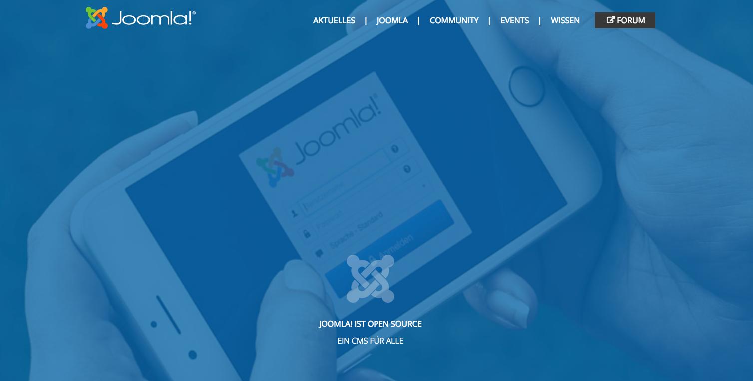 Das kleinste Joomla-Template der Welt